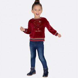 Mayoral 70-59 Spodnie dziewczęce rurki jeans kolor granat