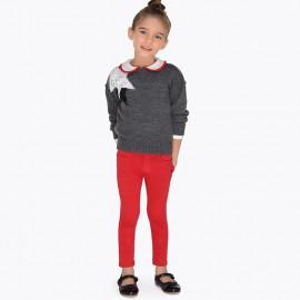 Mayoral 511-72 Spodnie dziewczęce z dzianiny kolor Czerwony
