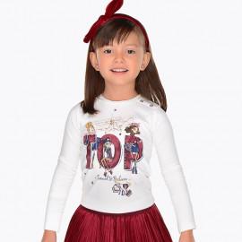 Mayoral 4058-72 Koszulka dla dziewczynki kolor krem