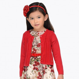 Mayoral 4326-40 Sweter dziewczęcy kolor czerwony