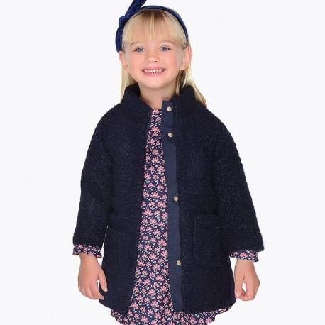 Mayoral 4498-43 Płaszcz dziewczęcy kolor granatowy