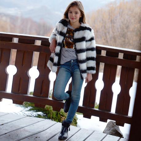 Mayoral 7538-16 Spodnie dziewczęce kolor jasny jeans