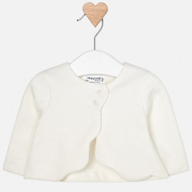 Mayoral 2428-67 Sweter dziewczęcy bolerko kolor biały