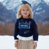 Mayoral 4454-87 Bluza dziewczęca kolor granatowy