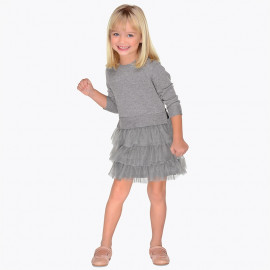 Mayoral 4930-70 Sukienka dziecięca kolor szary