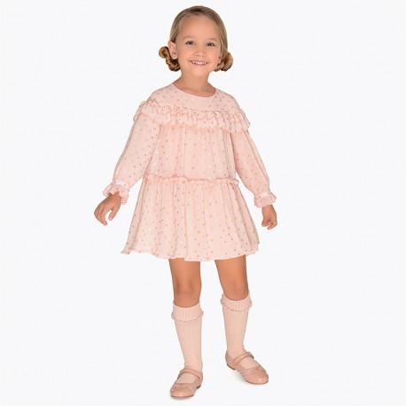 Mayoral 4932-87 Sukienka dziewczęca kolor różowy