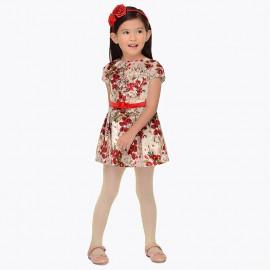 Mayoral 4948-70 Sukienka dziewczęca w kwiaty kolor czerwony