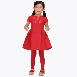 Mayoral 4954-49 Sukienka dla dziewczynki kolor czerwony