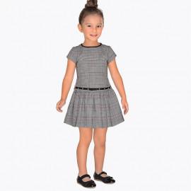 Mayoral 4958-81 Sukienka dziewczęca kolor szary