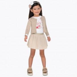 Mayoral 4980-92 Komplet dziewczęcy ze spódnicą kolor złoty