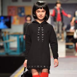 Mayoral 7954-77 Sukienka dziewczęca kolor Czarny