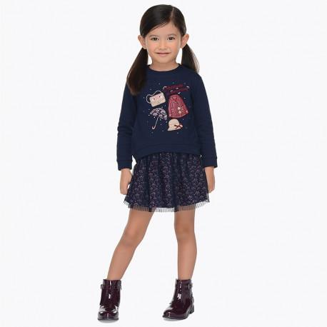 Mayoral 4982-61 Komplet dziewczęcy kolor Granatowy