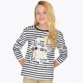 Mayoral 7058-78 Koszulka dziewczęca kolor czarny
