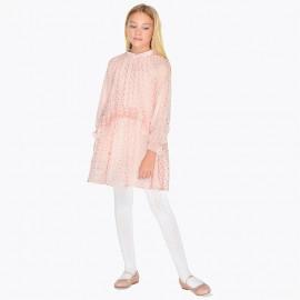 Mayoral 7934-40 Sukienka dziewczęca kolor nude