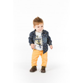 Boboli 326102-9889 koszula dla chłopca jeans kolor granat