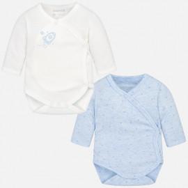 Mayoral 2702-51 body chłopięce 2szt kolor biały/niebieski