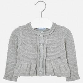Mayoral 2336-48 Sweter dziewczęcy kolor srebrny