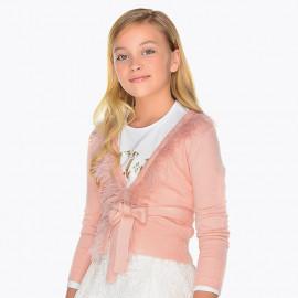 Mayoral 7324-44 Sweter dziewczęcy kolor róż