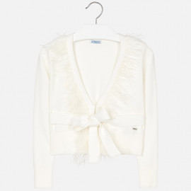Mayoral 7324-45 Sweter dziewczęcy kolor krem