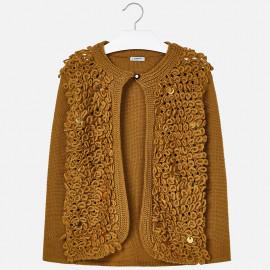 Mayoral 7328-26 Sweter dziewczęcy kolor musztarda