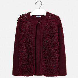 Mayoral 7328-27 Sweter dziewczęcy kolor bordo