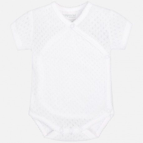 Mayoral 191-70 Body dziewczęce kolor biały