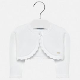 Mayoral 306-27 Sweter dziewczęcy kolor biały