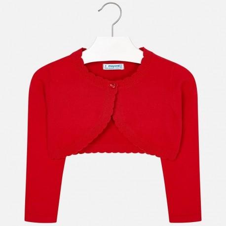 Mayoral 320-12 Sweter bolerko dziewczęce kolor czerwony