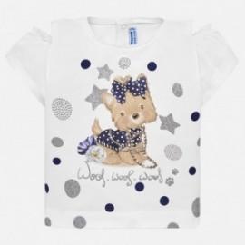 Mayoral 1007-53 Koszulka dziewczęca kolor biały