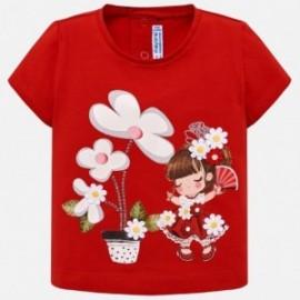 Mayoral 1014-14 Koszulka dziewczęca kolor czerwony
