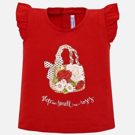 Mayoral 1016-30 Koszulka dziewczęca kolor czerwony