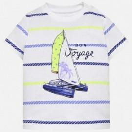 Mayoral 1018-73 Koszulka chłopięca kolor biały/niebieski