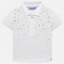 Mayoral 1108-40 Koszulka polo dziewczęca kolor biały