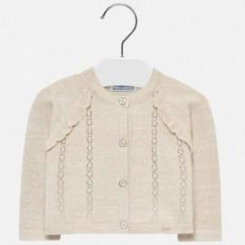 Mayoral 1309-65 Sweter dziewczęcy kolor piaskowy