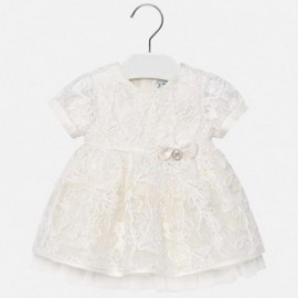 Mayoral 1905-15 Sukienka dziewczęca kolor krem