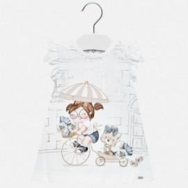 Mayoral 1937-86 Sukienka dziewczęca kolor biały