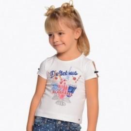 Mayoral 3003-63 Koszulka dziewczęca kolor Biały