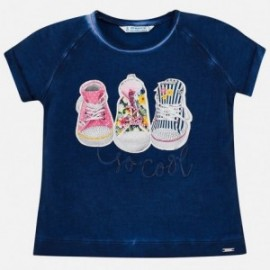 Mayoral 3004-81 Koszulka dziewczęca kolor granat