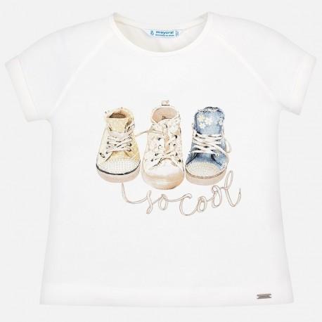 Mayoral 3004-82 Koszulka dziewczęca kolor krem