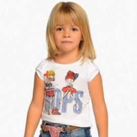 Mayoral 3006-46 Koszulka dziewczęca kolor Biały