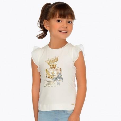 Mayoral 3007-61 Koszulka dziewczęca kolor krem