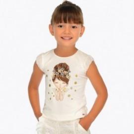 Mayoral 3008-89 Koszulka dziewczęca kolor Krem