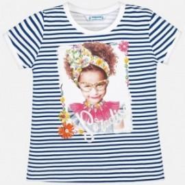 Mayoral 3010-37 Koszulka dziewczęca kolor biały