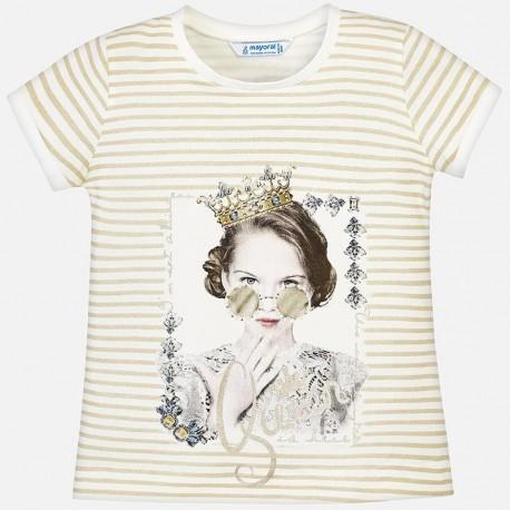 Mayoral 3010-38 Koszulka dziewczęca kolor szampan