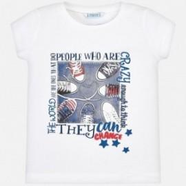 Mayoral 3015-64 Koszulka dziewczęca kolor biały