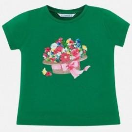 Mayoral 3015-60 Koszulka dziewczęca kolor zielony