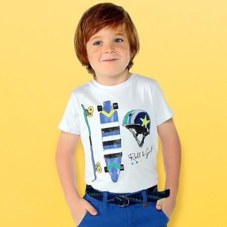 Mayoral 3029-81 Koszulka chłopięca kolor biały