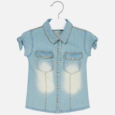 Mayoral 3106-41 Bluzka jeans dziewczęca kolor niebieski