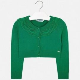 Mayoral 3302-77 Sweterek bolerko dziewczęce kolor zielony