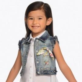 Mayoral 3304-24 Kamizelka jeans dziewczęca kolor niebieski
